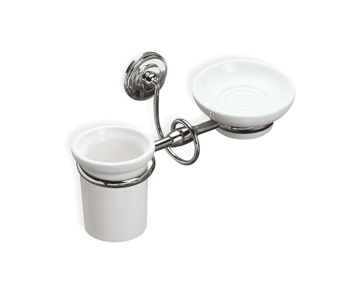 Silver Italy Antonio Lupi Accessories Glass Toothbrush Holder