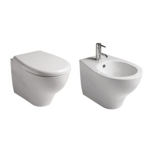 Offer Galassia Eden Wall Hanging Toilet With Wc Seat And Wall Hanging Bidet Casa39 Com