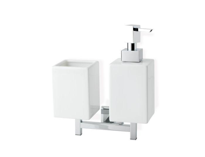 Stilhaus Urania Dispenser Toothbrush Holder Wall Mounted Chrome 000u14d08 Casa39 Com
