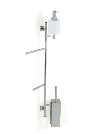 Stilhaus Urania Toilet Brush Holder For Holder Nickel Satin Finish 000u25 039q36 Casa39 Com